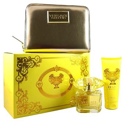 Versace Yellow Diamond - Agua de colonia, 3 piezas, 200 gr