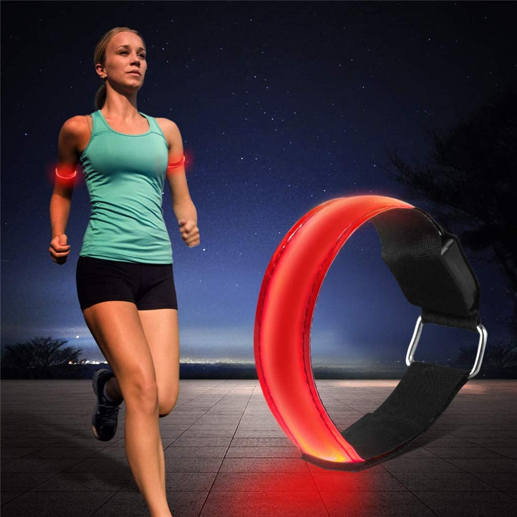 Red Safety LED Waterproof Armband Reflective Cycling Running Walking Outdoor