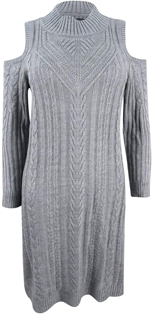 Jessica Howard Women's Cold Shoulder Cable Knit Dress
