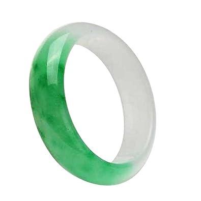 yigedan AAA Handmade Genuine Certified Natural Beautiful Green Jadeite Jade Bangle si9GVGWf