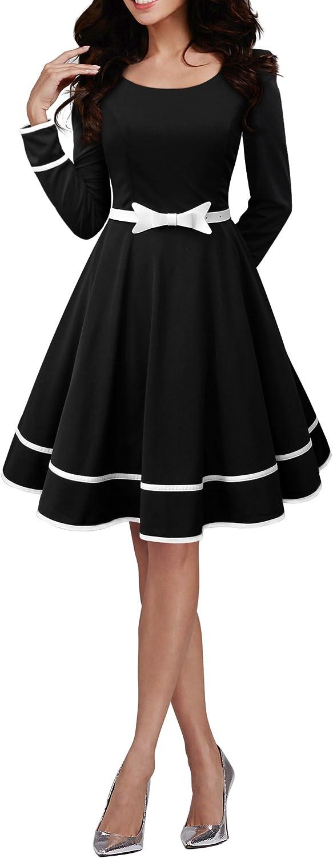 TALLA ES 48 (3XL). BlackButterfly 'Grace' Vestido Vintage Clarity Negro ES 48 (3XL)