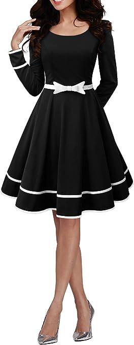 TALLA ES 36 (XS). BlackButterfly 'Grace' Vestido Vintage Clarity Negro ES 36 (XS)