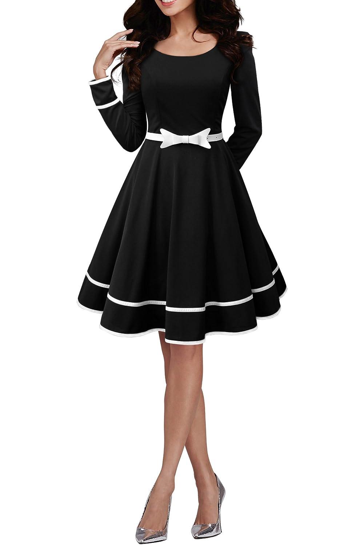 TALLA ES 46 (XXL). BlackButterfly 'Grace' Vestido Vintage Clarity Negro ES 46 (XXL)