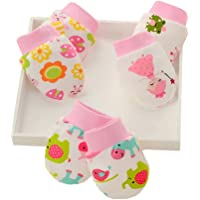 LOVARTS BEAUTY 3 Pares Manoplas Para Bebé Recién Nacido, Niño Y Niña, 0-6-10 Meses, Muy Suaves, Ajustables, Antiarañazos…