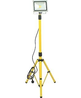 Trango 2x 100 Watt LED Arbeitstrahler TGG1504-1003//2 I Baustrahler I Strahler I Arbeitsleuchte 2700K wamwei/ß I je 3m Zuleitung /& Stativ