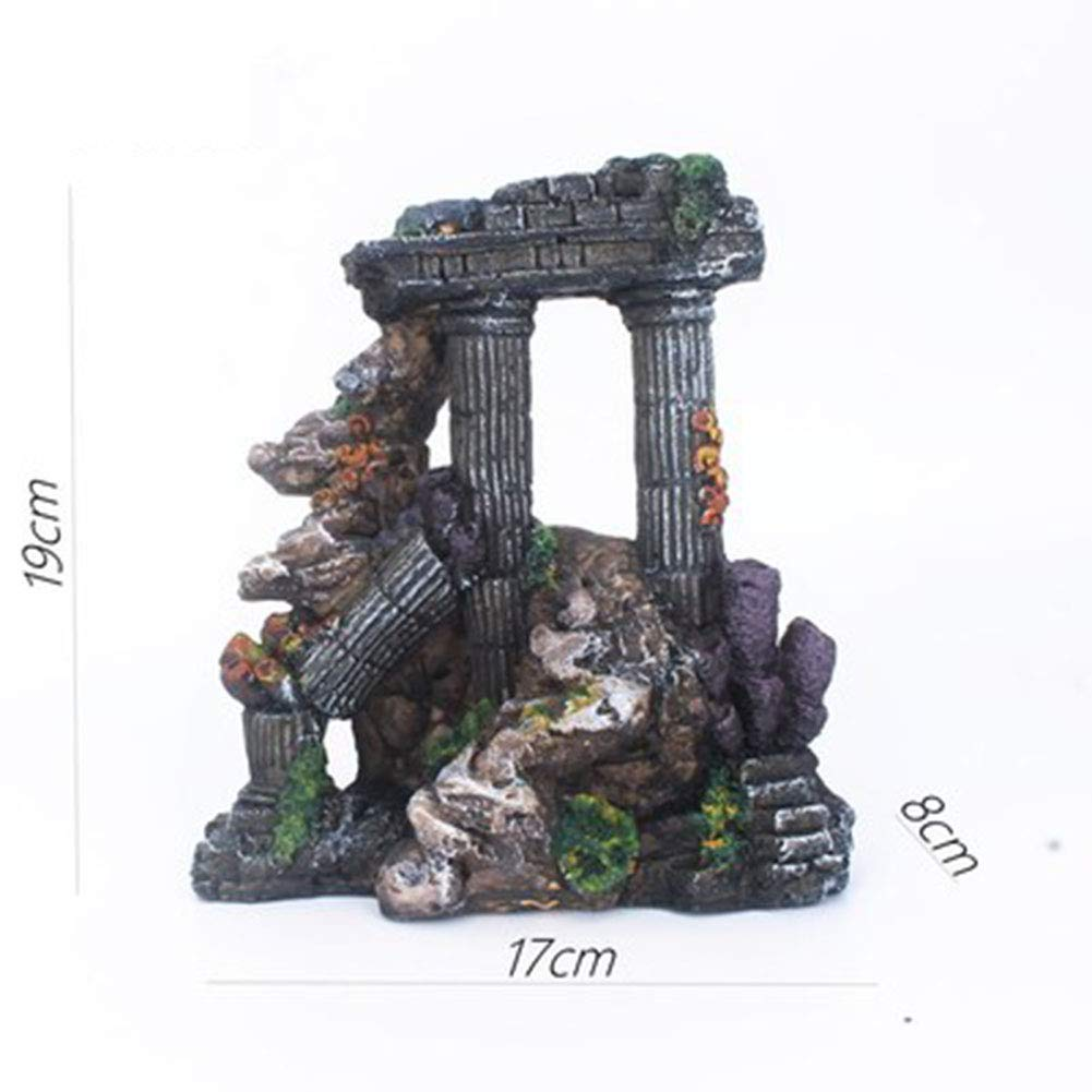 3 MAGO Aquarium Rockery Aquarium Decoration Landscaping Rockery House Aquatic Cloth Jiangnan Cabin Decoration (Style   4)