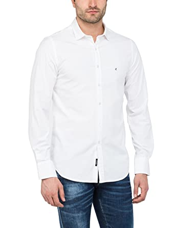 Replay Hemd, Chemise Casual Homme, (White 1), X-Large