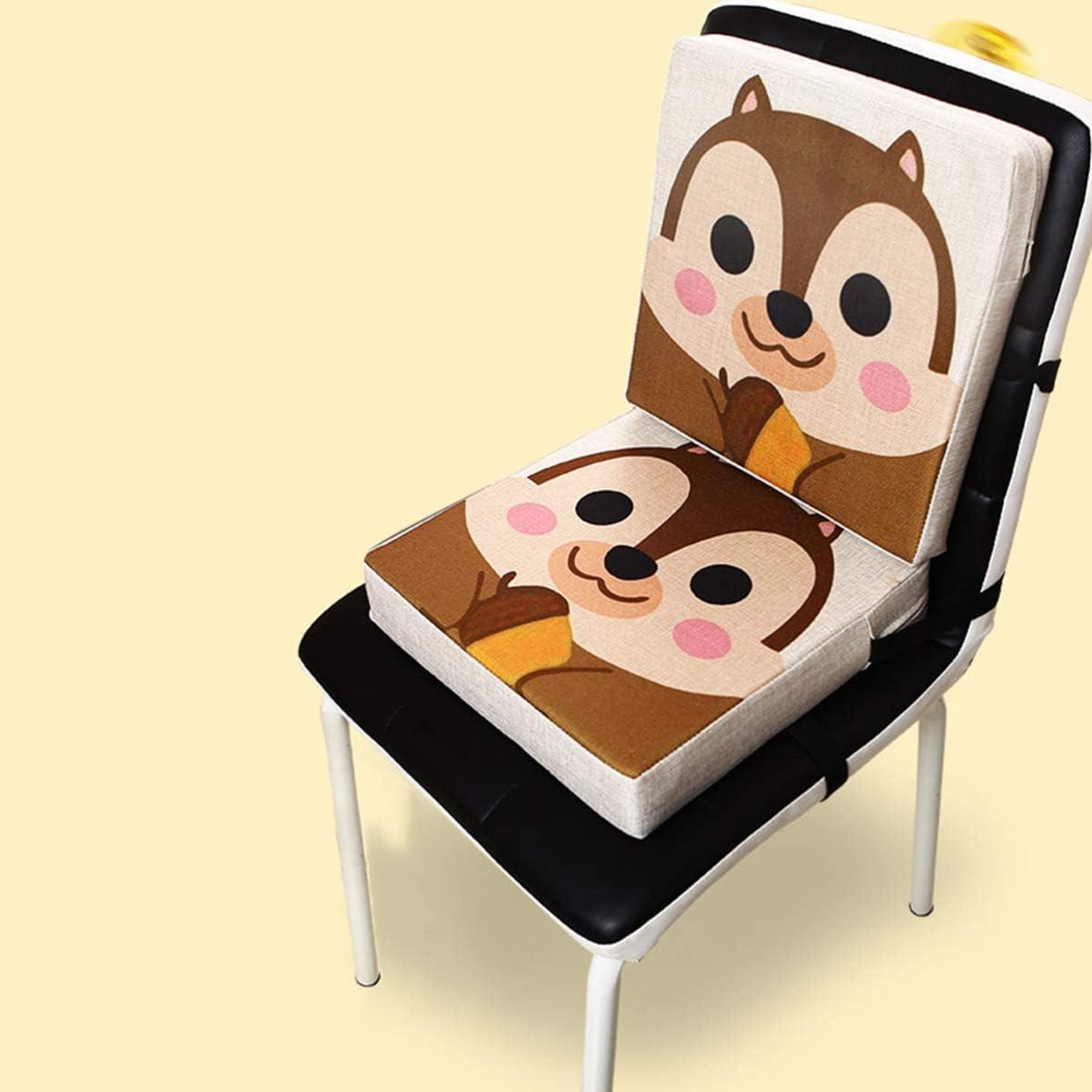 STOBOK Chaise Coussin Croissant B/éb/é Enfant en Bas /Âge B/éb/é Chaise Haute Coussin Dappoint Coussin Lavable Chaise /Épaisse Sangle en Tissu Ensemble de Motifs D/écureuil Mince Et /Épais