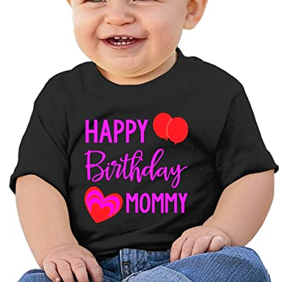 Wuliddf7d8d Baby Happy Birthday Mommy Tight Fit Tee Shirt