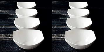 Amazon.com | Over-and-Back 4-Piece Porcelain Serving Bowl Set (8 ...