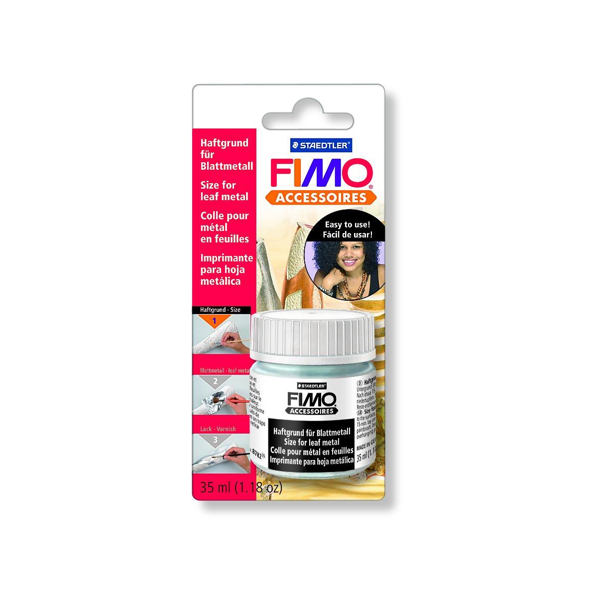 Fimo Tie Coat for Leaf Metal, 35ml, Adhesive, Grey, 6.7 x 4.8 x 14 cm KNORR prandell Creative distributor 8782 BK ST