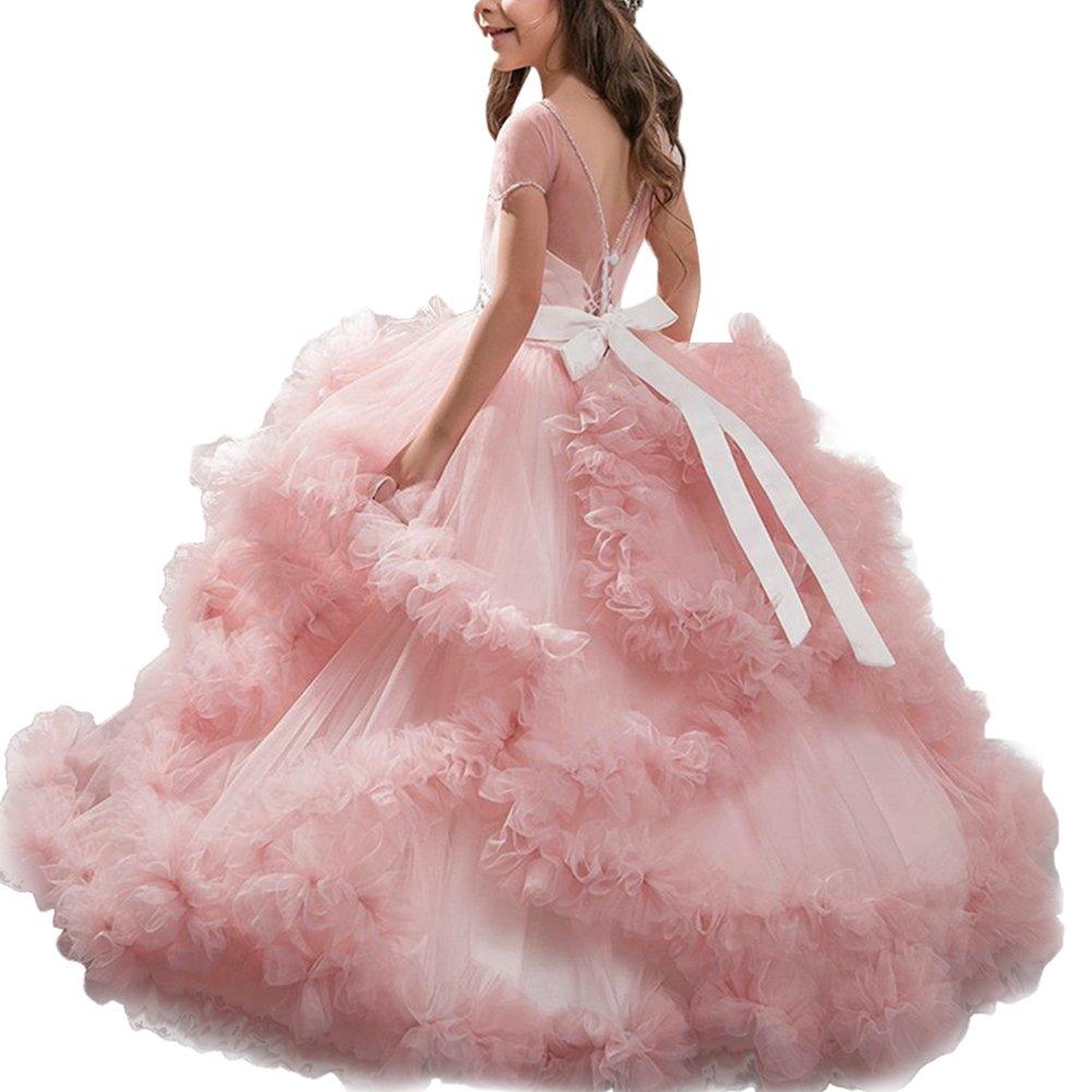 Vestido de Princesa Pageant de Vestir Encaje con Appliques Vestido ...