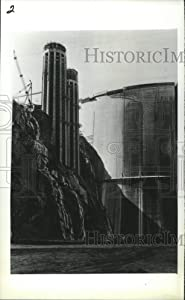 Historic Images - 1983 Press Photo Upstream Shot of Hoover Dam Showing Water Intake Tower