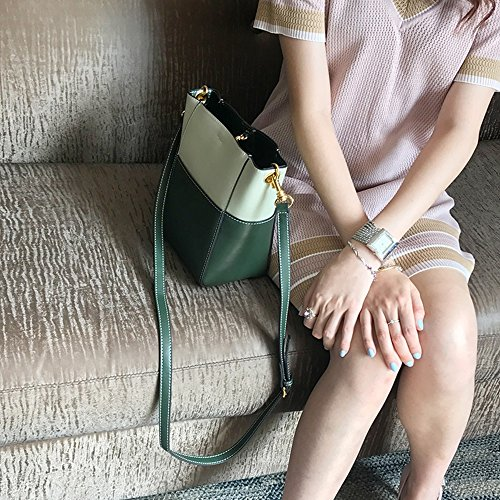 Simple Handbag Bag Green Oblique Color Blue Daughter Bucket Wild Backpack Packet Shoulder Bag Summer rCpwqrt