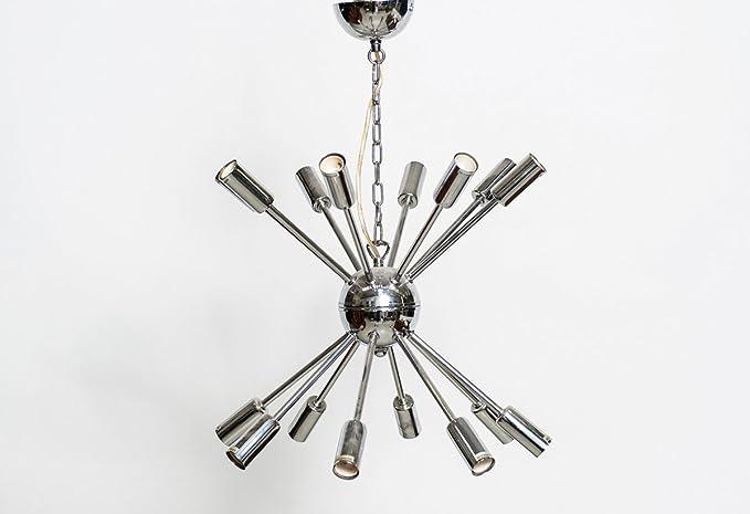 Sputnik Lámpara producción Italia años 70 color acero ...