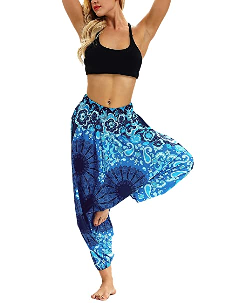 Zhhlaixing Pantalones de Yoga Harem De Las Mujeres ...