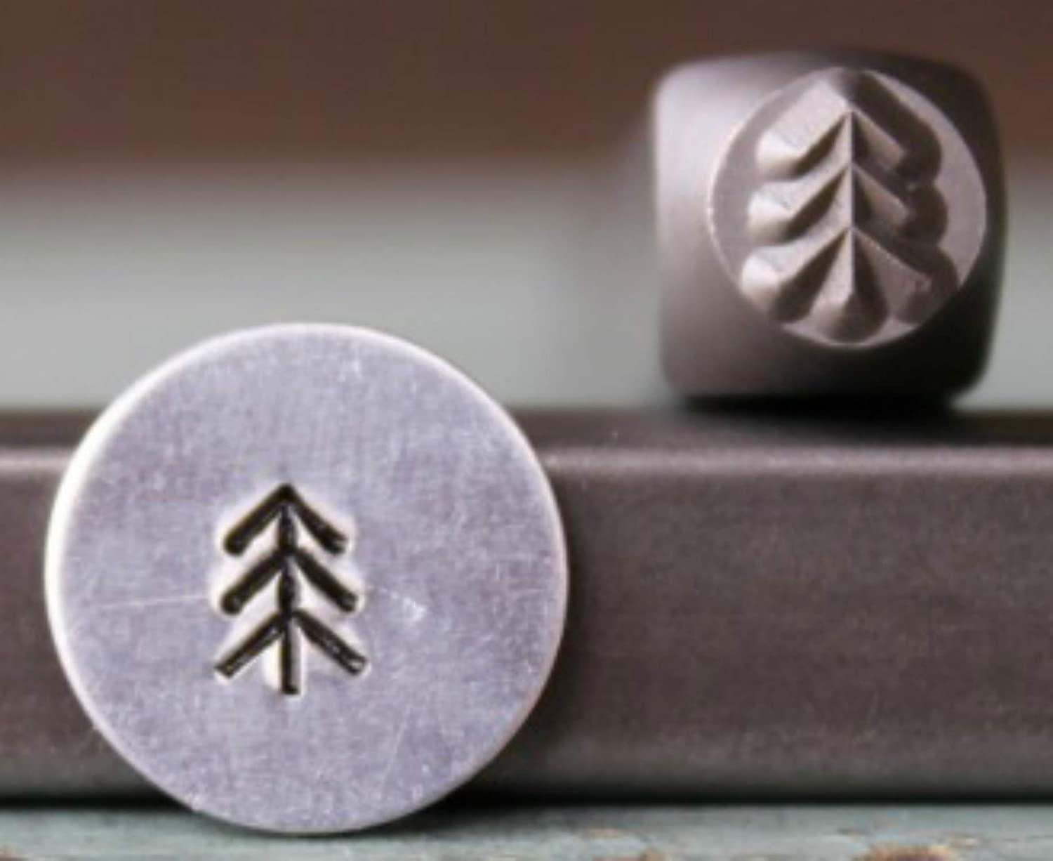 Supply Guy CH-278 Brand New 5mm Simple Pine Tree 1 Metal Punch Design Stamp