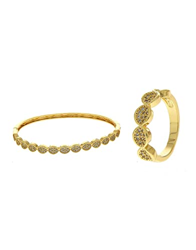ea091383511d38 Buy Anuradha Art Gold Finish Styled with American Diamonds Stone Wonderful  Classy Hand Kada/Bracelet with Finger Ring for Women/Girls Online at Low  Prices ...