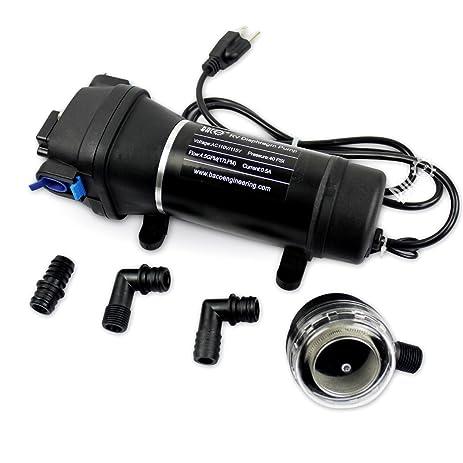 Bacoeng ac110v self priming water pressure diaphragm pump 45gpm bacoeng ac110v self priming water pressure diaphragm pump 45gpm 17lmin 40psi caravan ccuart Choice Image