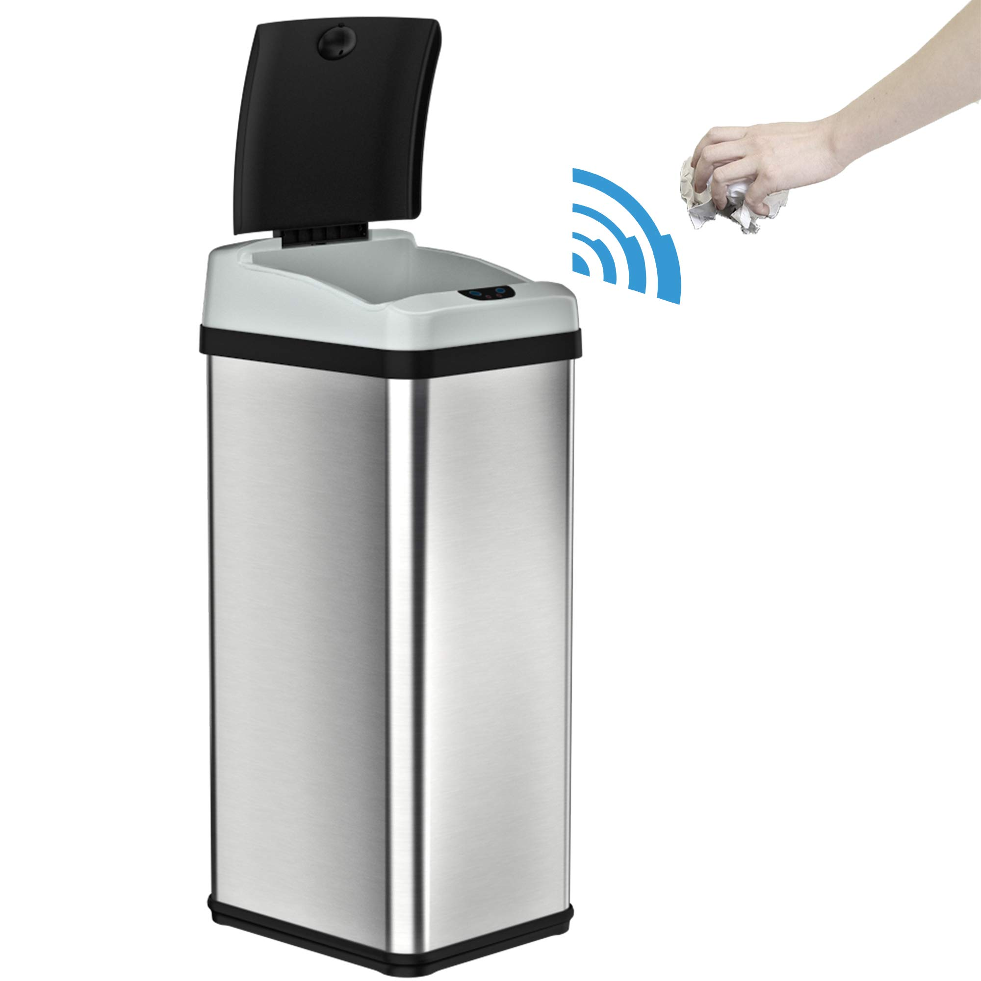 iTouchless RX 13 Gallon Stainless Steel Touchless Trash Can with AC Adapter Platinum Limited Edition, Odor Control System Kitchen Bin, by iTouchless (Image #2)