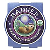 The Badger Sleep Balm is a fragrant balm that calms your mind and helps you fall asleep. Ingredients include organic extra virgin olive oil, castor oil, beeswax, and essential oils of ginger, rosemary, bergamot, balsam fir, and lavender.