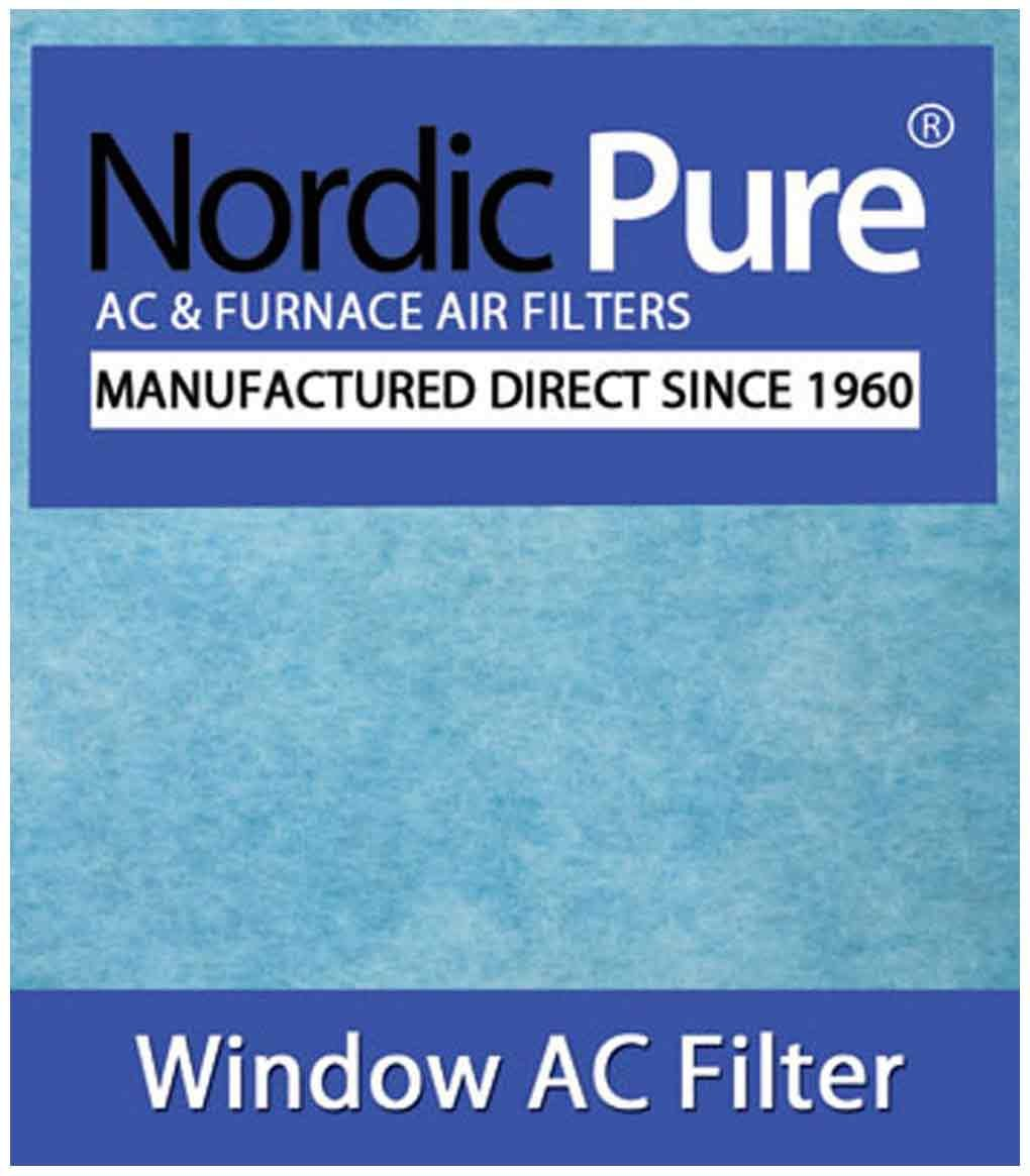 Nordic Pure Window Air Conditioner Filter Pads, 15 x 24-Inches (15x24-WAC-HP44pads-6)