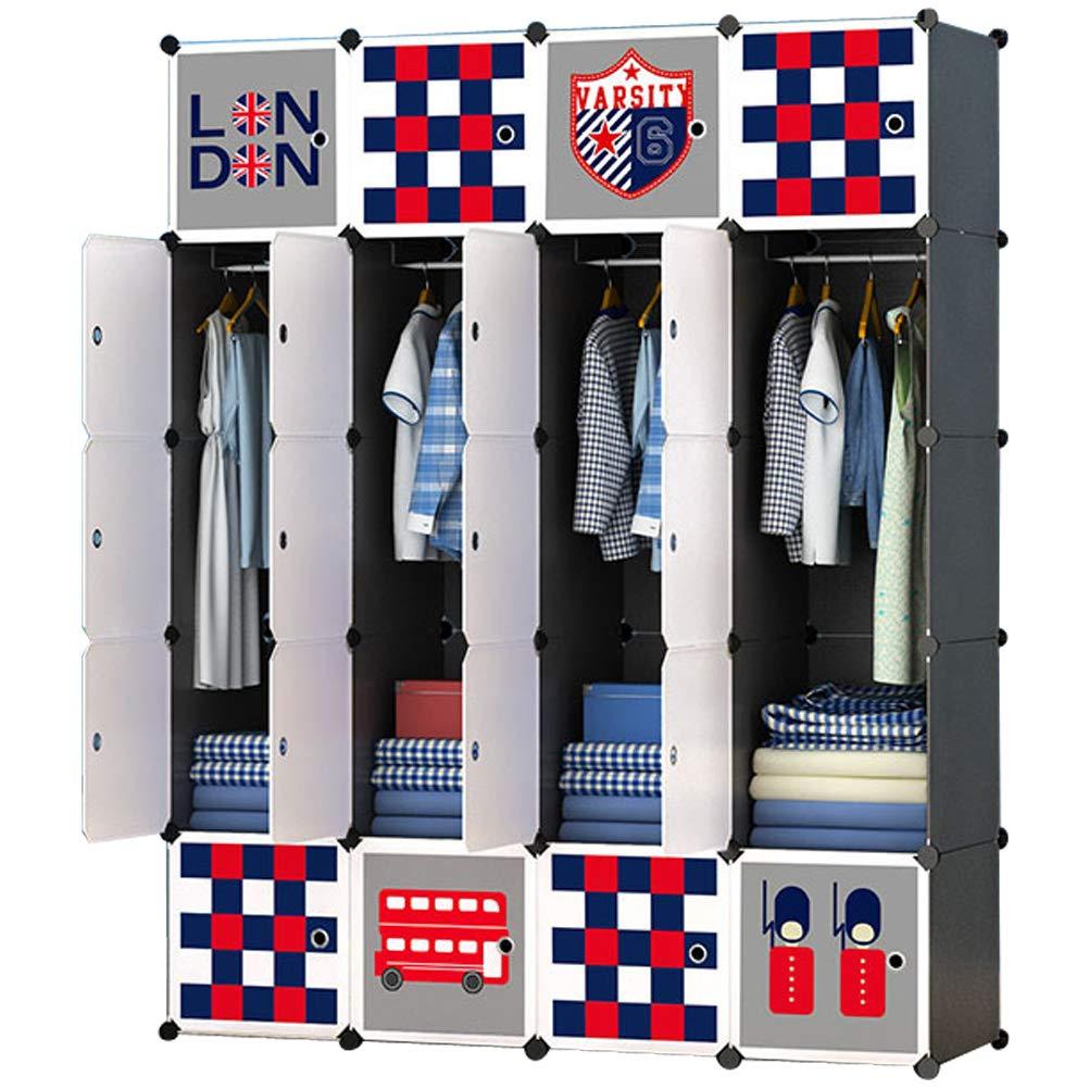 ARMOI Armoire avec Penderie Modulable 6 Cubes Meuble Rangement pour Enfant B/éb/é