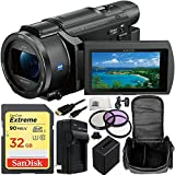 Sony FDR-AXP55 (PAL) 4K Ultra HD Handycam Camcorder with 32GB Bundle 11PC Accessory Kit