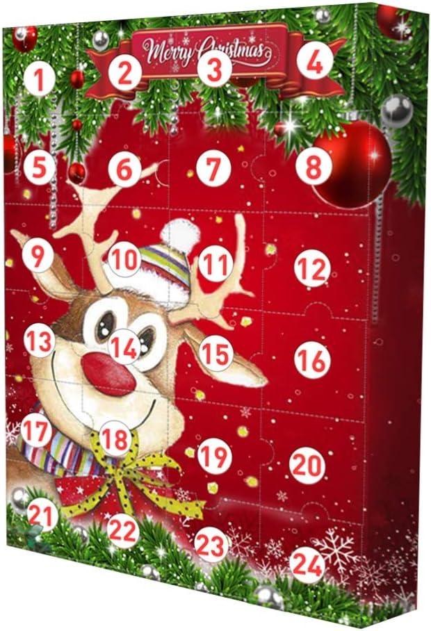 DUOCACL DIY Calendario de Adviento Decoraciones navide/ñas Precioso Calendario de Cuenta Regresiva de Navidad Decoraci/ón Regalo Caja ciega