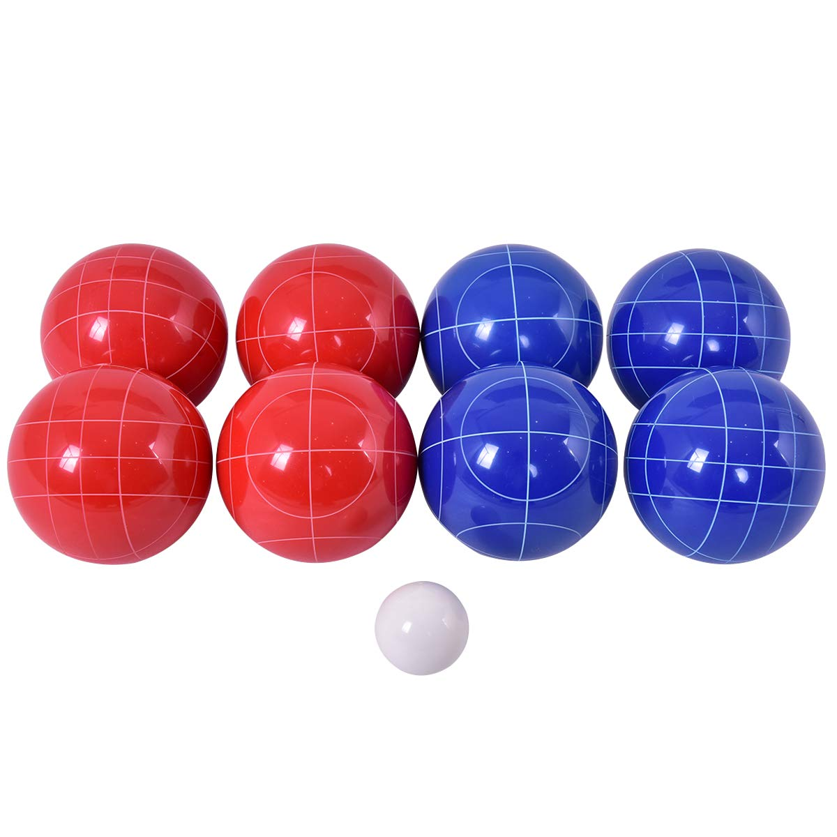 GYMAX Bocce Ball Set, Sports Resin Bocce Balls with 8 Balls Pallino for Outdoor Backyard, Lawn, Beach by GYMAX (Image #1)