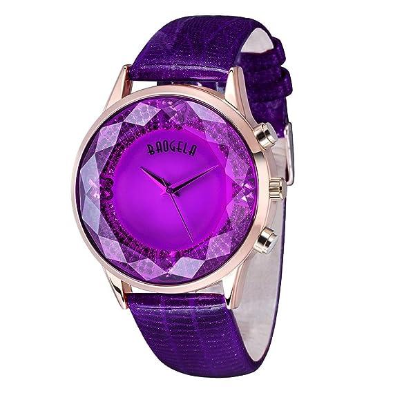 OOLIFENG Relojes de moda para mujer - Reloj de pulsera de cuarzo analógico resistente al agua