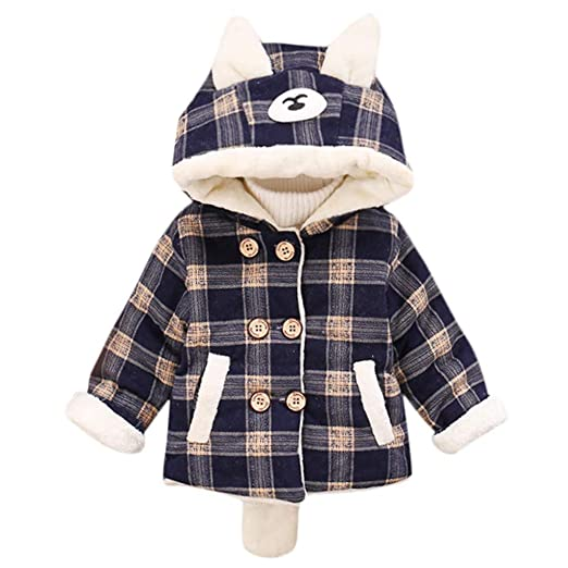 16db2ac9cab9 Amazon.com  Infant Baby Toddler Girls Winter Coat Jacket Hoodie ...