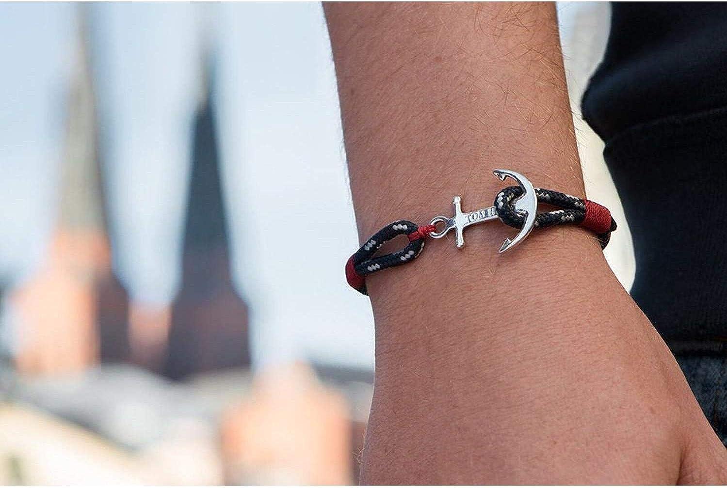 """18 cm // 6.5/"""" TOM HOPE - Bracelet Unisexe Atlantic Red Tom Hope S Tm0041 - Argent - S : 16.5 cm 7.1/"""""""
