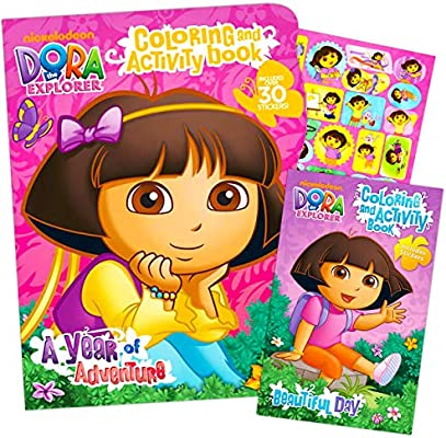 - Amazon.com: Dora The Explorer Giant Coloring Book With Stickers (144 Pages)  By Bendon Publishing: Toys & Games