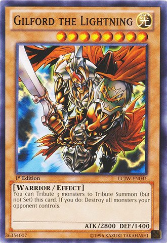 Gilford Single (Yu-Gi-Oh! - Gilford the Lightning (LCJW-EN041) - Legendary Collection 4: Joey's World - 1st Edition -)