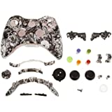 MagiDeal Remplacement Cas Shell Kit Complète Boutons Pour Xbox 360 Manette Tombe Crâne Blanc
