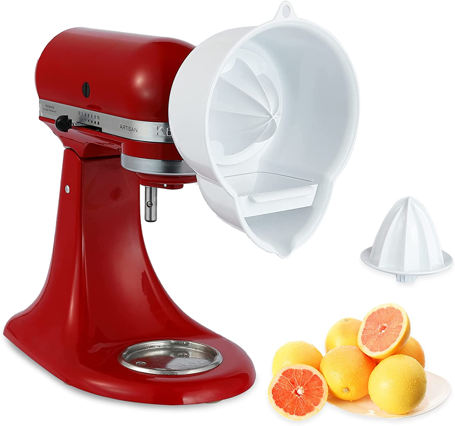 Juicer Attachment for Kitchenaid Stand Mixer with 2 Size Reamer,Juicer for Kitchenaid Stand Mixer Citrus Juicer Attachment Accessories by InnoMoon