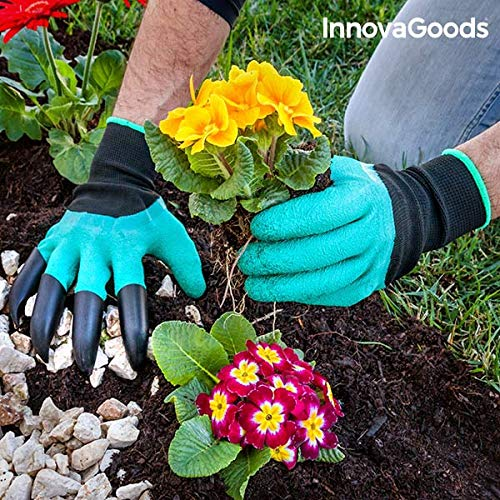 innovagoods Gardening Gloves with Claws Digging Fork, Green IGS IG812904