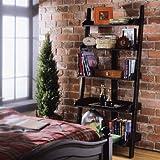 American Drew Camden Black Ladder Wall Storage Bookcase