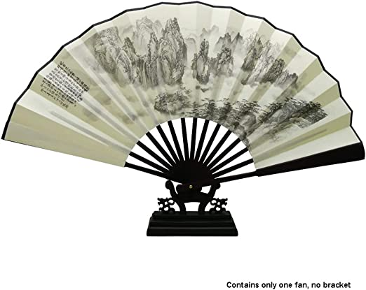Abanico Plegable Ventilador Chino Ventilador de bambú Impresión de ...