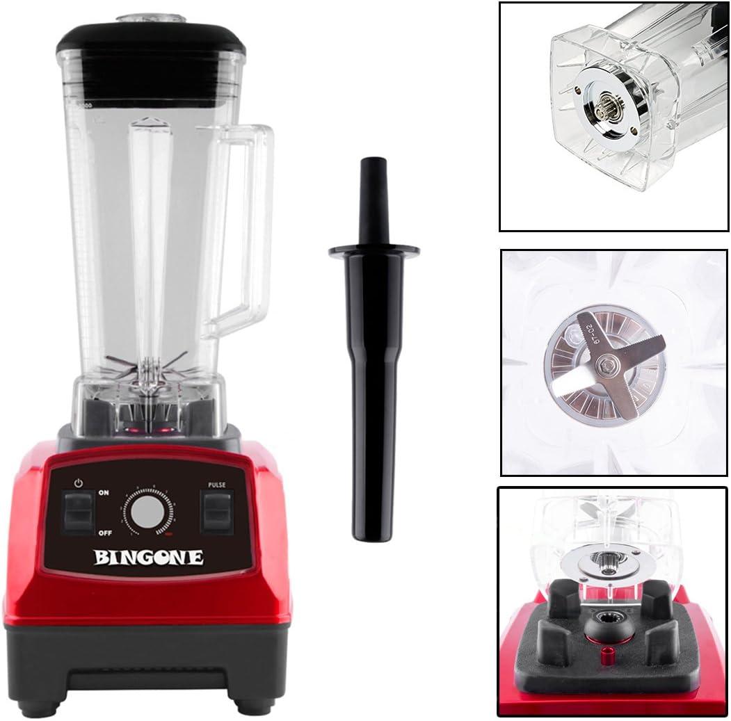 Bingone Licuadora comercial, mesa profesional eléctrica 28000 RPM sistema de mezclador de batidos de alta velocidad con tarro Tritan de 2 litros sin BPA aprobado por ...