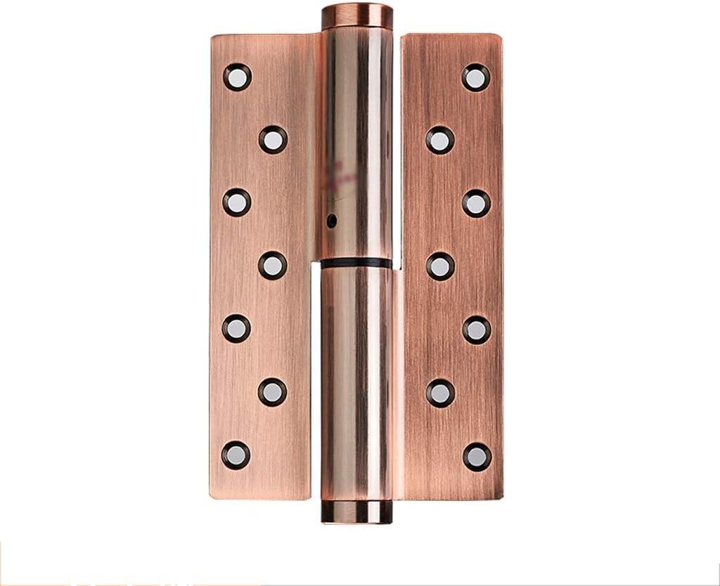 HUANGDA Bisagra Puerta cortafuego de Cierre automático Ajustable Puerta cortafuego de Madera Puerta Interior de Madera con cojinete de Bolas en Espiral Bisagras Retro (Color : E-R, tamaño : 2PCS)