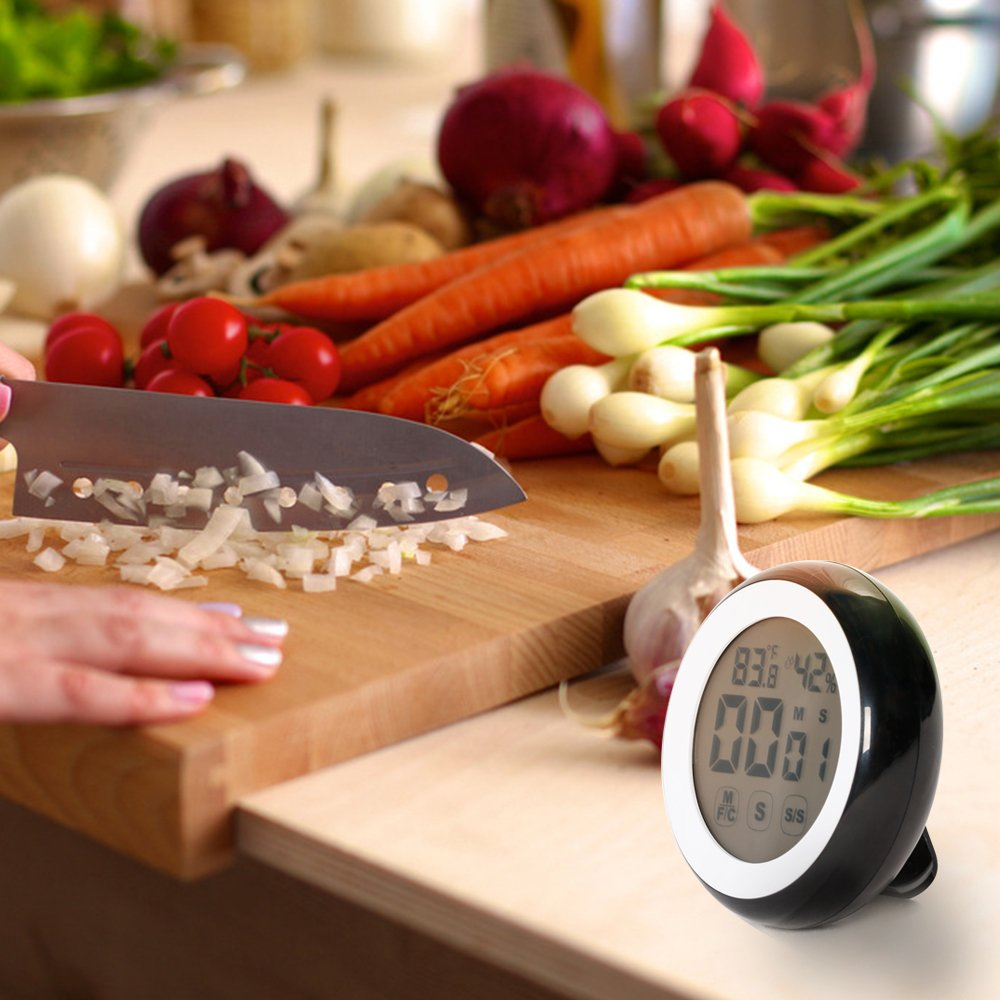 higr/ómetro con im/án y etiqueta retr/áctil Temporizador de cocina Master Cook digital