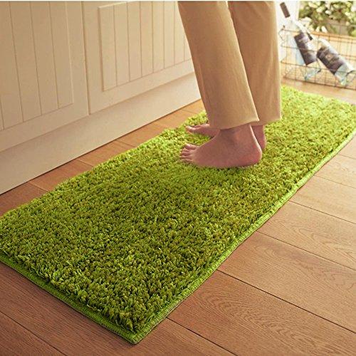 MeMoreCool Simple Fashion Plush Rectangle Green Carpet,Kitch