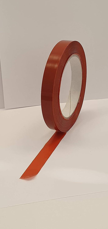 130 60 m x 15 mm gomma naturale Arancio mopp supporto 79/µm Nastri Strapping rinforzati antistrappo IMBALALGGI 2000