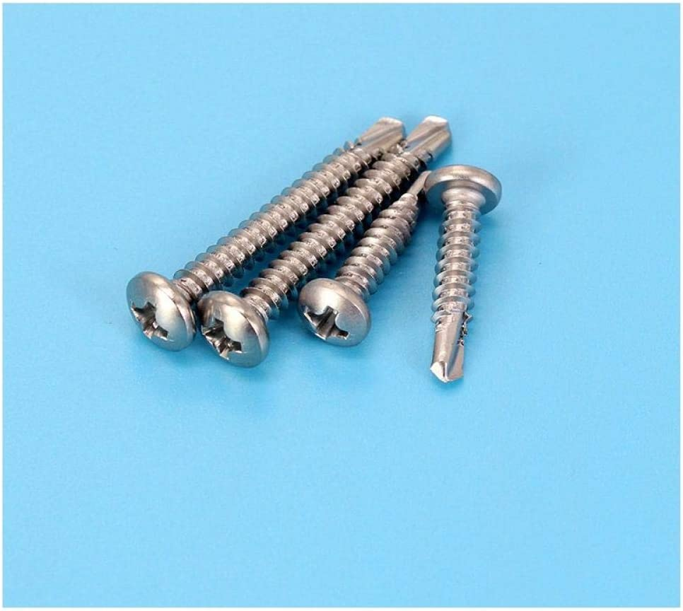 Cross-Head self-Drilling Screws with Round Head, Dovetail Nail 410 Stainless Steel pan Head Cross Drill Tail ST4.8 ST6.3-ST4.8 * 13 (1.8K Sticks) St4.8*32 (1.2k Sticks)