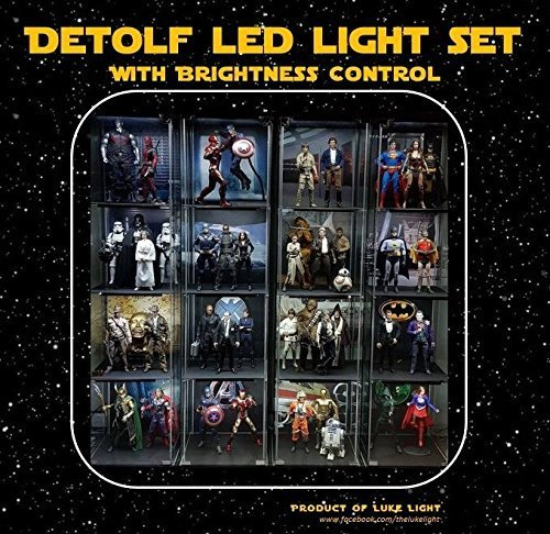 LED light Kit for Ikea Detolf - Bright White Tone by Luke Light