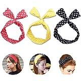 JER 3 Pièces Bandeaux de femmes avec Bowknot Accessoire Cheveux Petite pour les femmes et les filles