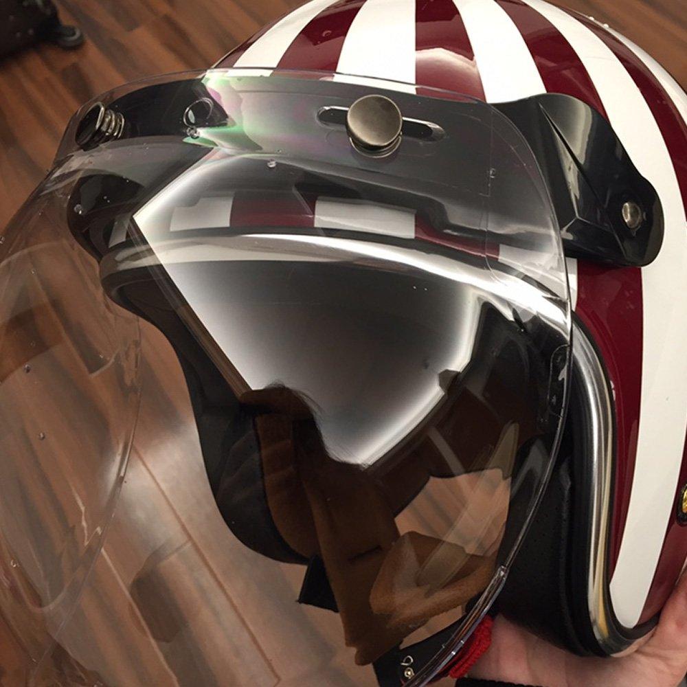 KKmoon Visera Burbuja Casco Lente 3 Botones Homologado para Biltwell Gringo&Bonanza Motocicleta Casco: Amazon.es: Coche y moto