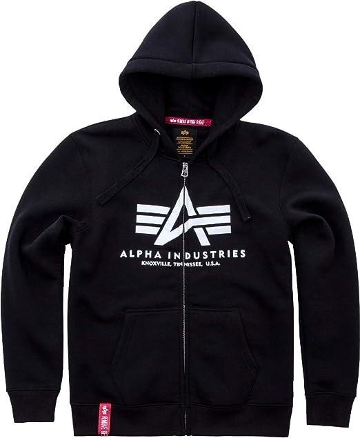 Alpha Industries X Fit Zip Hoodie Schwarz XL: